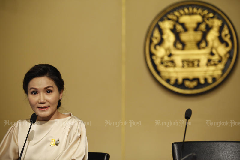 Narumon Pinyosinwat has resigned from the position of government spokeswoman. (Photo: Wichan Charoenkiatpakul)