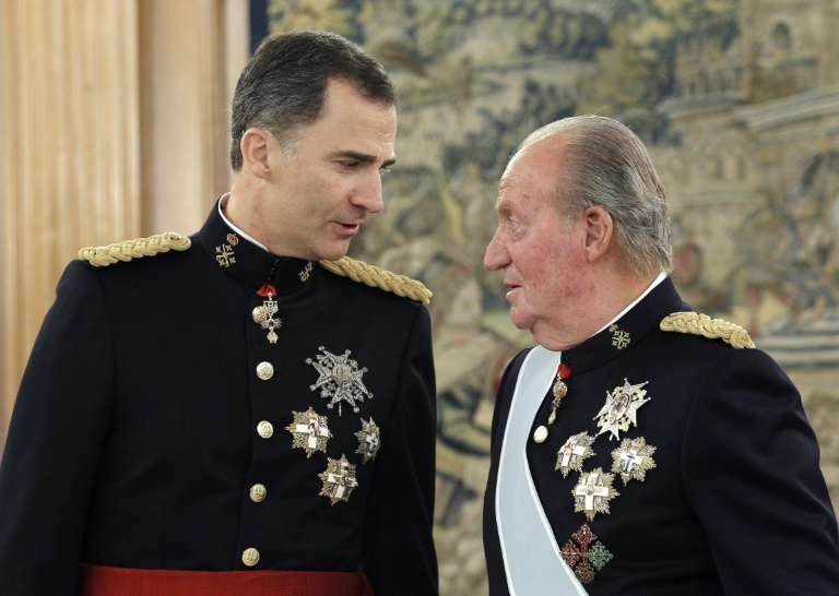 Spain's former king Juan Carlos said he is leaving the country to help his son, the current King Felipe VI,