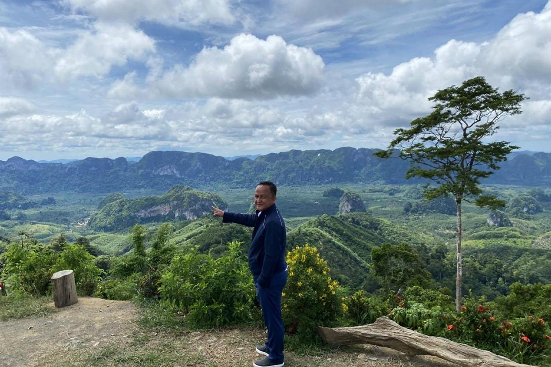 Mr Rakpong at Doi Tapang, the main tourism attraction of Baan Bon Doi community in Chumphon.