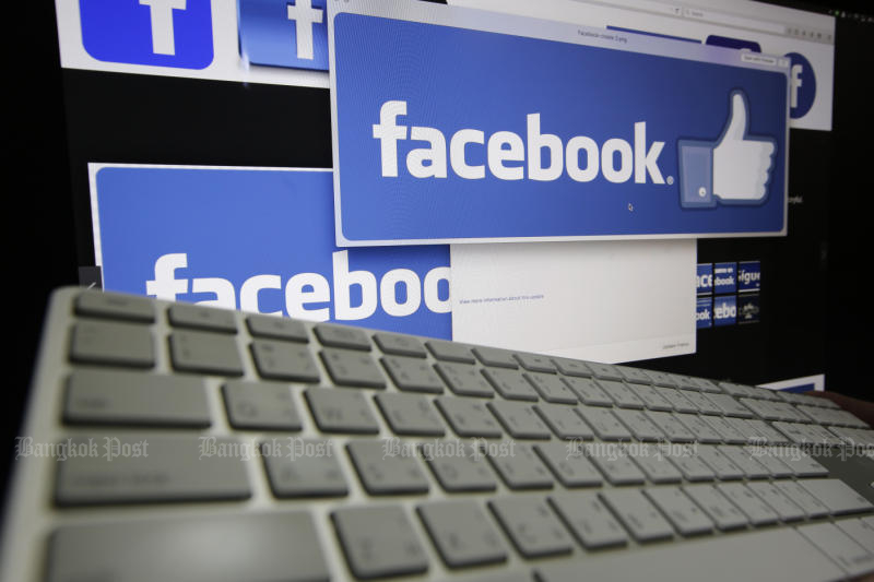 The Digital Economy and Society Ministry gives Facebook 15 days to remove information which violates the Computer Crime Act or face legal action. (Bangkok Post photo)
