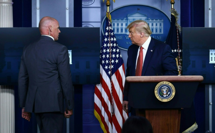 Trump ushered from briefing after shots fired near White House