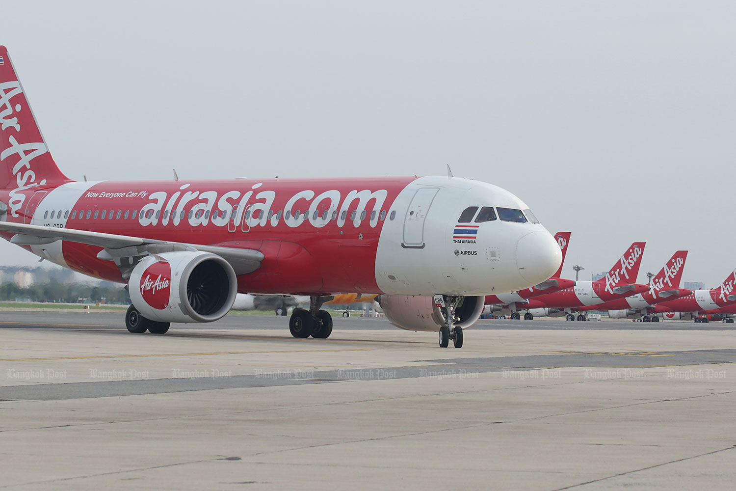 Thai AirAsia plans to take full advantage of its existing fleet with new routes from Suvarnabhumi airport.(Photo by Apichit Jinakul)