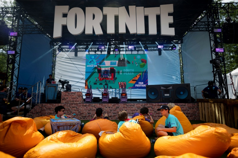 Spectators are seen at the 2019 Fortnite World Cup Finals in New York City in July 2019.