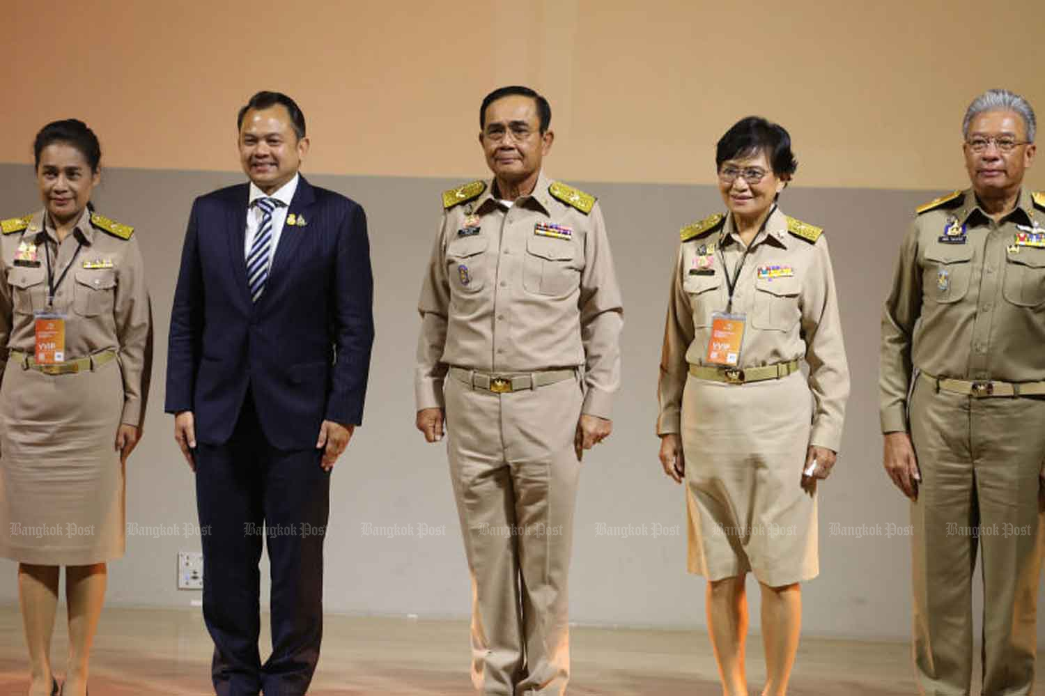 Prime Minister Prayut Chan-o-cha presides over the opening of the Thailand Education Eco-System forum on developing human resources for the 21st century at the True Digital Park in the Phra Khanong district of Bangkok on Monday.(Photo by Varuth Hirunyatheb)