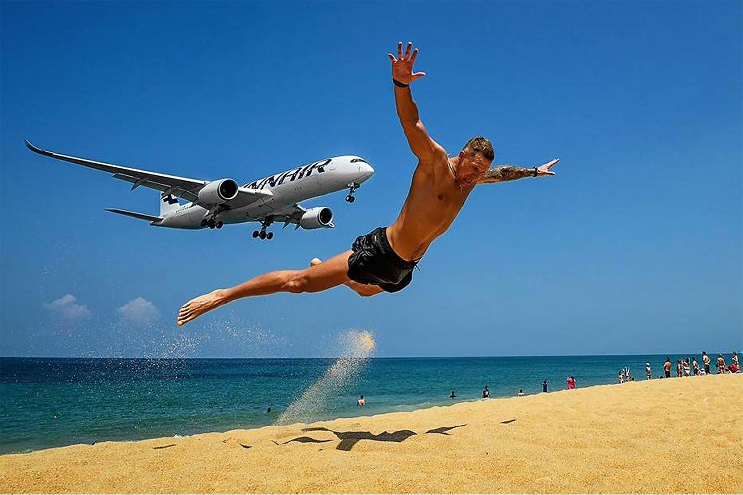 Mai Khao beach in Phuket. The Tourism and Sports minister aims to make the Andaman province a model for the Safe and Sealed tourism plan. (Photo: Phuket plane spotter)