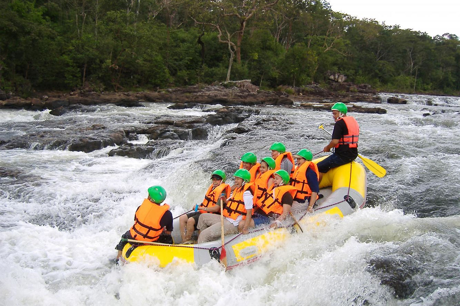 Whitewater rafting in Kaeng Hin Phoeng River in Prachin Buri province. Corporate travel is the new target for the tourism stimulus campaign after individuals were slow to react in the first month.