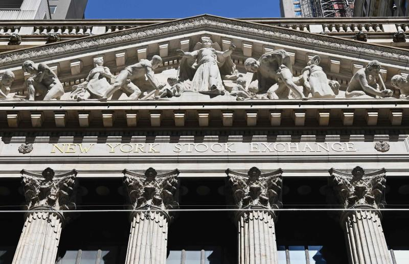 A view of the New York Stock Exchange is seen at Wall Street on June 29, 2020 in New York City. (AFP file photo)