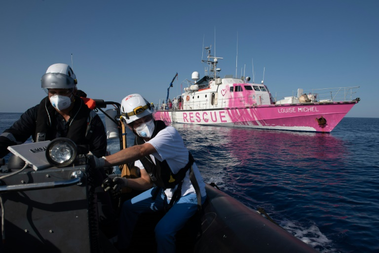 Banksy-funded rescue boat already saving refugees in Mediterranean