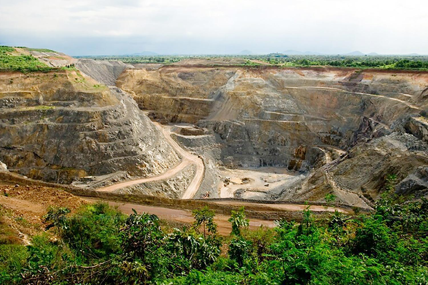 The Chatree gold mine operated by Akara Resources in Phichit province was closed by the military-led government on Dec 31, 2016.