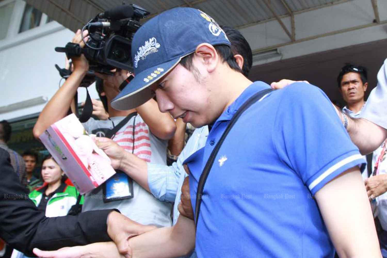 Vorayuth Yoovidhya is in Bangkok police custody after his crash on Sept 3, 2012. (Bangkok Post file photo)