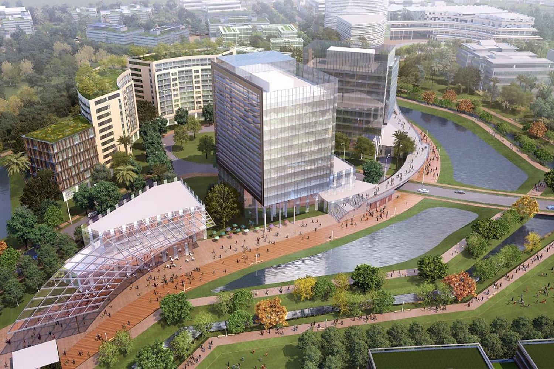 A digital rendition of Amata City Chonburi, which encompasses 43.3 sq km.