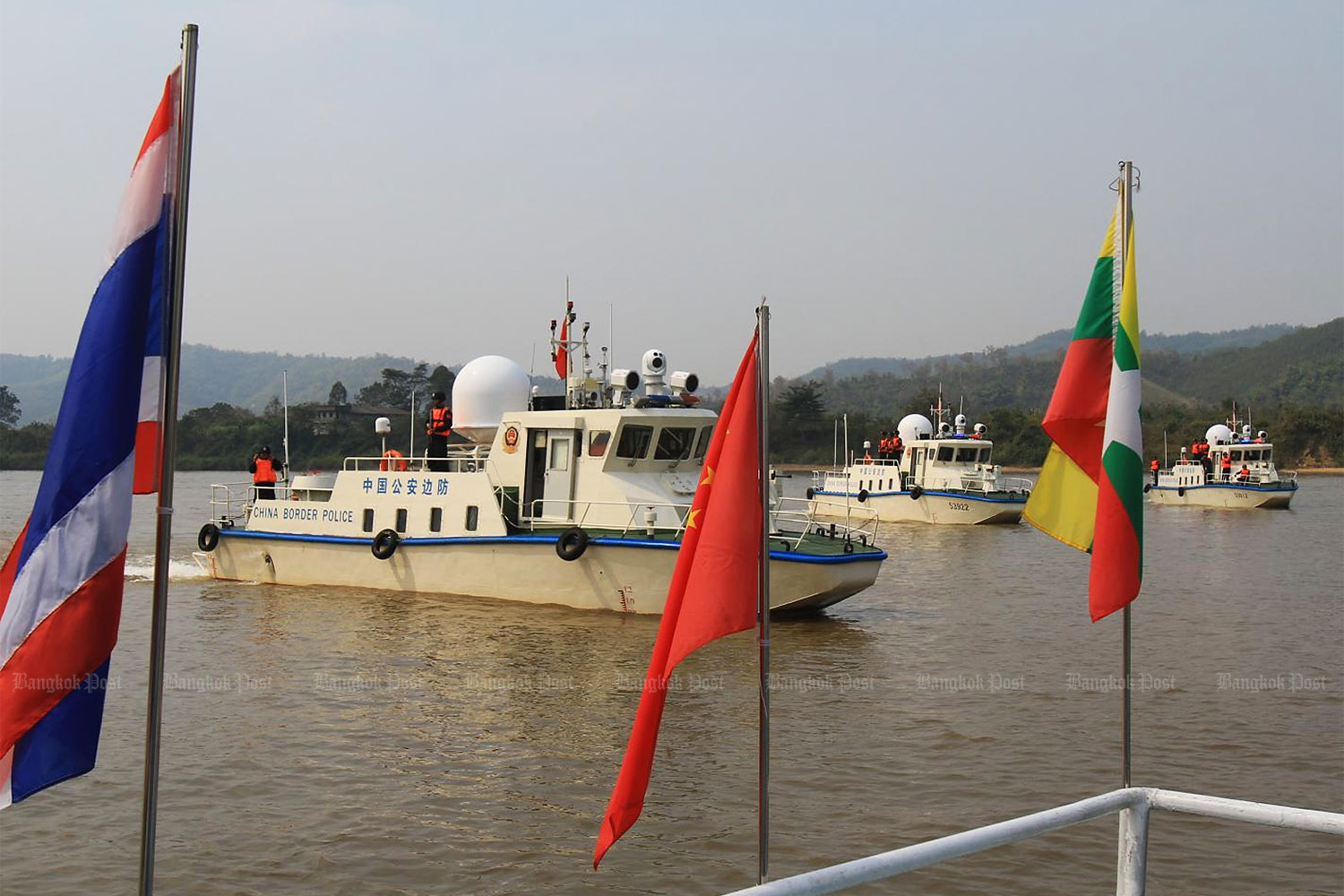 Thai and Lao drug busters patrol the Mekong River in Chiang Saen district of Chiang Rai to thwart drug trafficking in a campaign that also includes Myanmar and China.