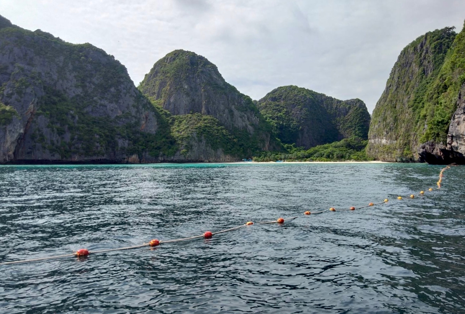 Maya Bay has become a symbol of how difficult it can be to restore the natural environment after years of mass tourism. (Photo courtesy of Hat Noppharat Thara-Mu Koh Phi Phi National Park)