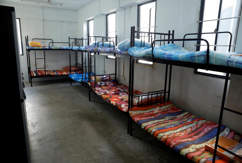View of a dormitory room for migrant workers who have recovered from the coronavirus disease (Covid-19), amid the outbreak in Singapore May 15, 2020. (Reuters file photo)