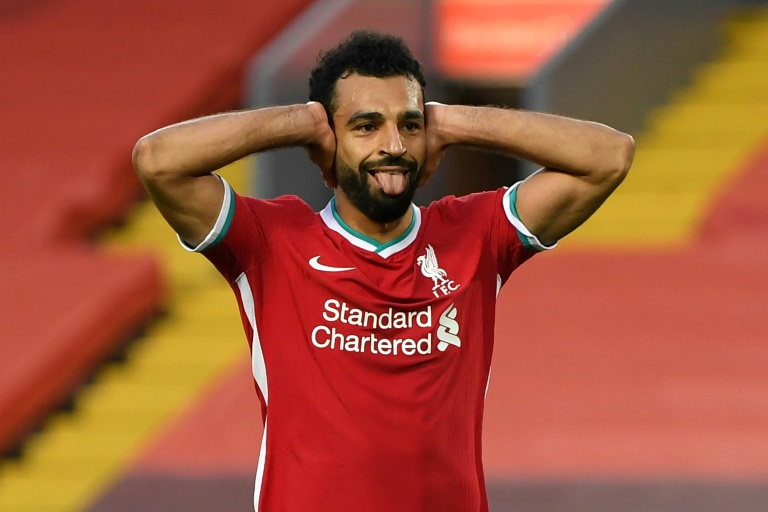 Liverpool's Mohamed Salah scored a hat-trick in the win over Leeds.