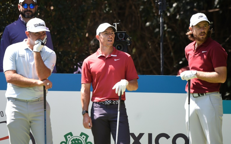 Fathers three: (From left) Gary Woodland, Rory McIlroy and Tommy Fleetwood