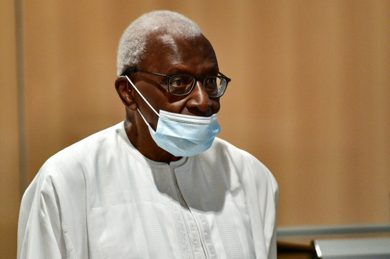 Lamine Diack, pictured arriving at court in Paris, led the global athletics body from 1999 to 2015