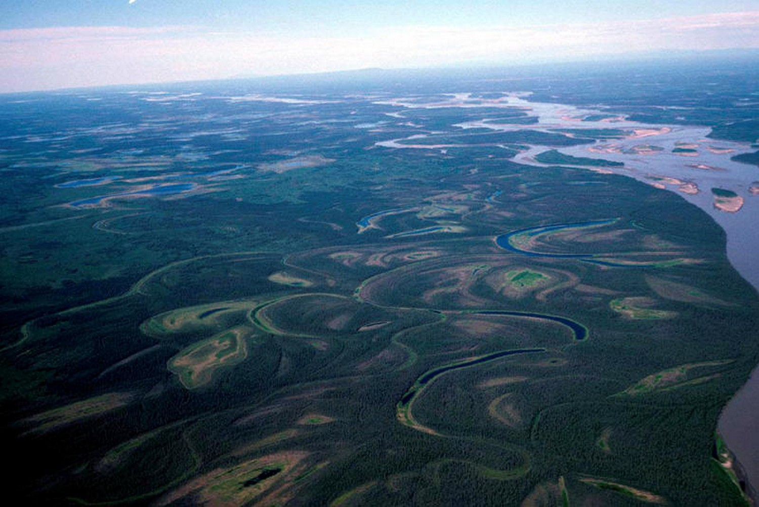 An undated US Fish and Wildlife Service aerial photo of the Yukon River (USFWS/Reuters)