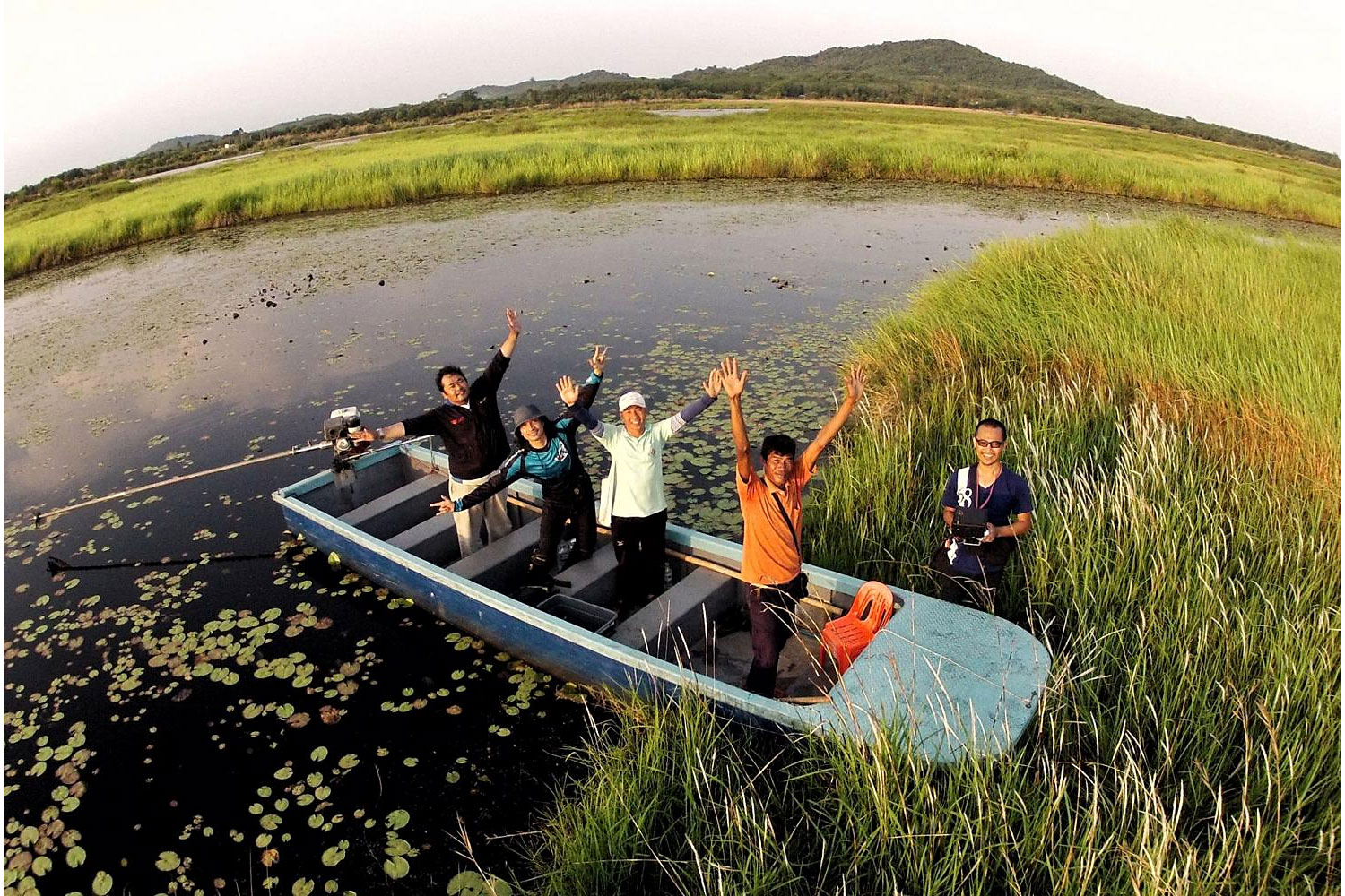Part of the garden includes a wetland it hopes to preserve.(Photo by Pattarapong Chatpattarasill)