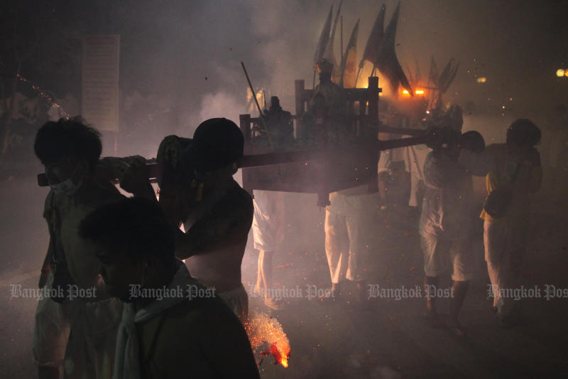Phuket will hold its vegetarian festival from Oct 17-25 this year.(Bangkok Post file photo)