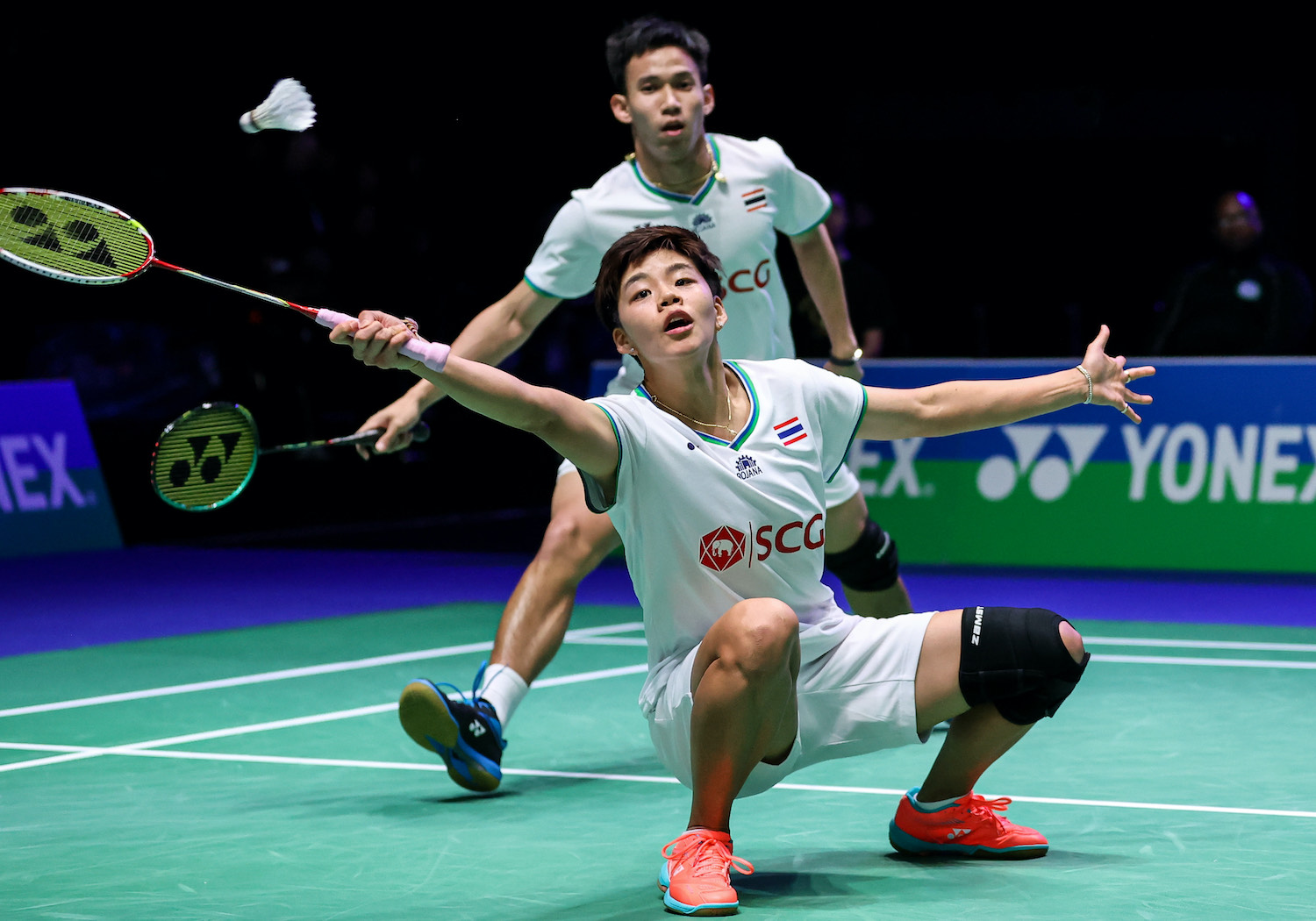 Thai mixed doubles stars Sapsiree Taerattanachai and Dechapol Puavaranukroh compete in the final of the All England Open in March, one of the last major badminton events staged before activity was shut down because of the coronavirus.