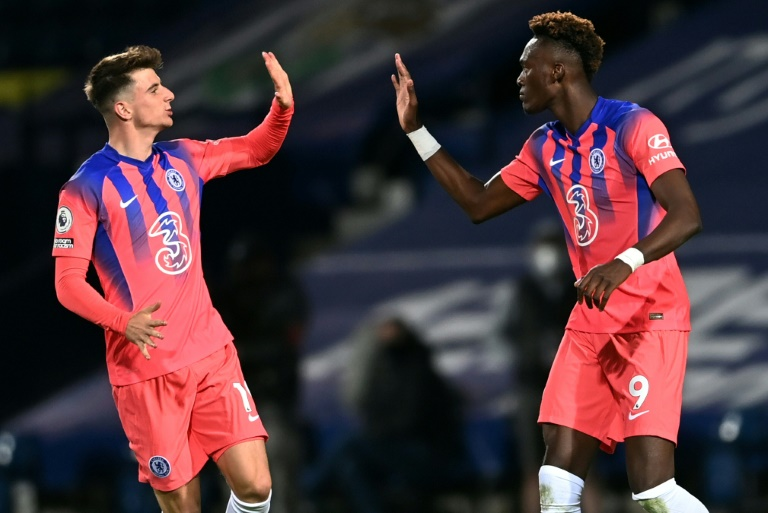 To the rescue: Mason Mount (left) and Tammy Abraham (right) scored as Chelsea came from 3-0 down to draw 3-3 at West Brom.