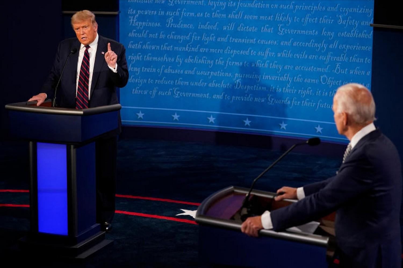Trump, Biden clash over pandemic in first presidential debate