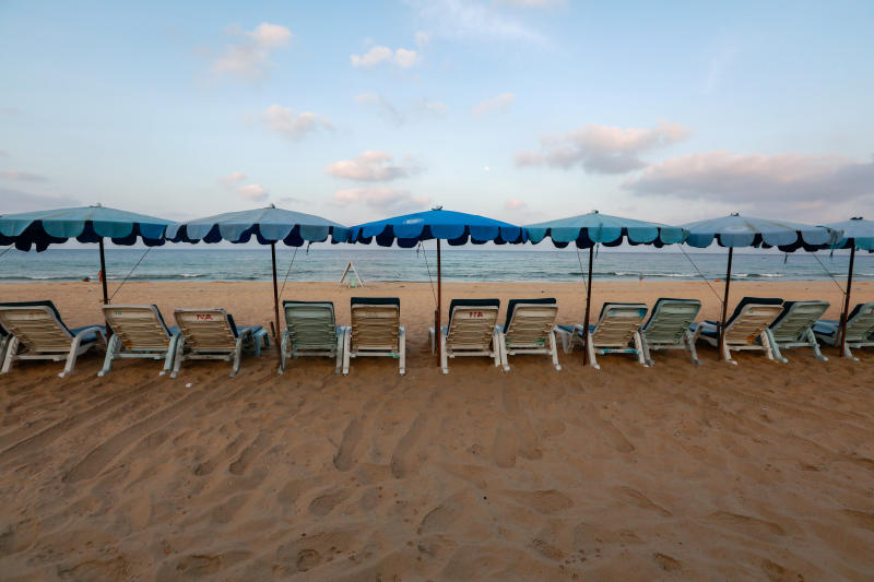 FILE PHOTO: Empty chairs are seen on a beach which is usually full of tourists, amid fear of coronavirus in Phuket, Thailand March 11, 2020. (Reuters)