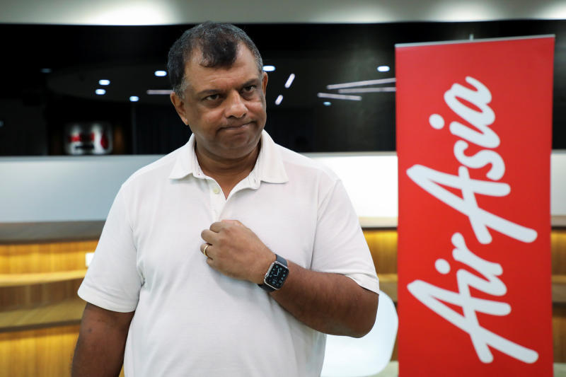 AirAsia Group CEO Tony Fernandes reacts during an interview with Reuters in Kuala Lumpur, Malaysia Sept 7, 2020. (Reuters file photo)