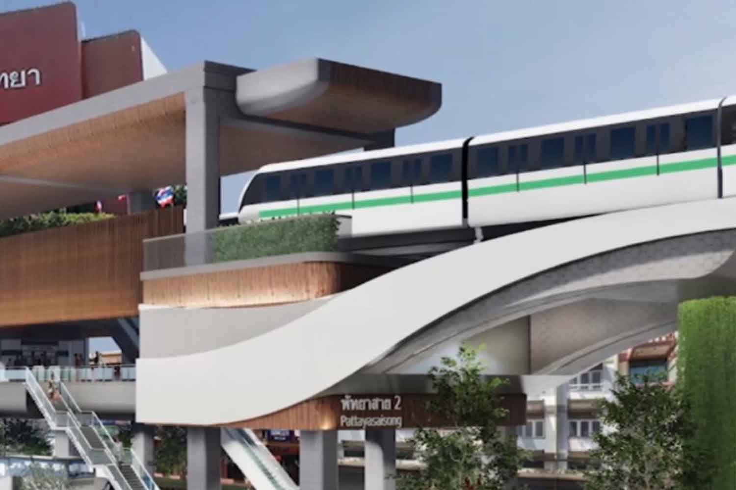 An artist's impression of a Pattaya monorail system. (Photo: Chaiyot Pupattanapong)