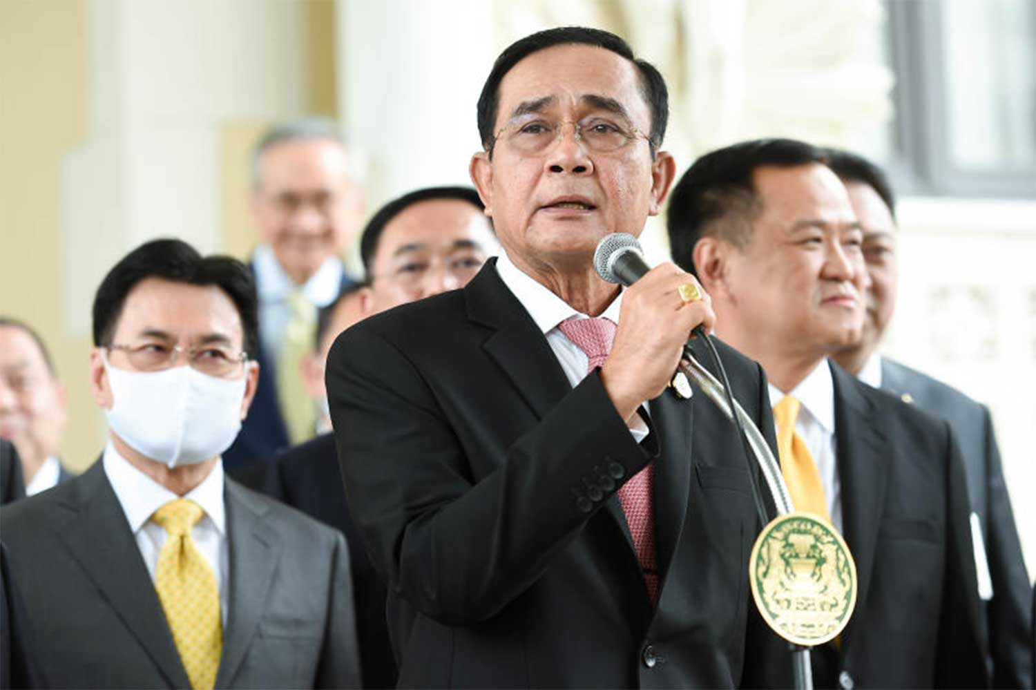 Prime Minister Prayut Chan-o-cha after Friday's special cabinet meeting approved a month-long state of emergency in Bangkok (Photo supplied)