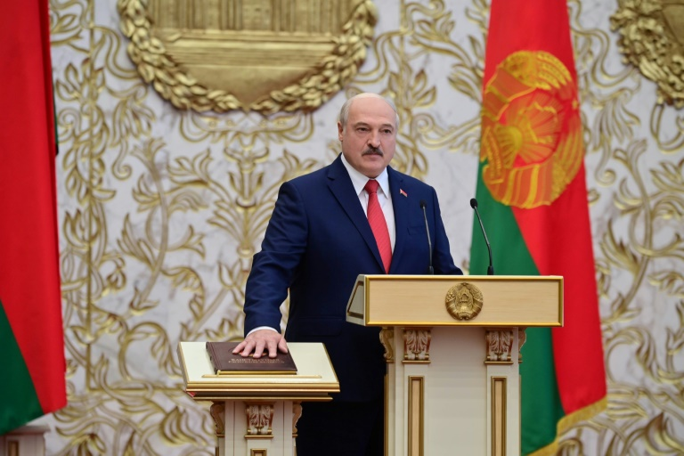 Lukashenko took the oath of office once more on Sept 23 but the opposition has told him he must quit before Oct 25 or face a general strike.