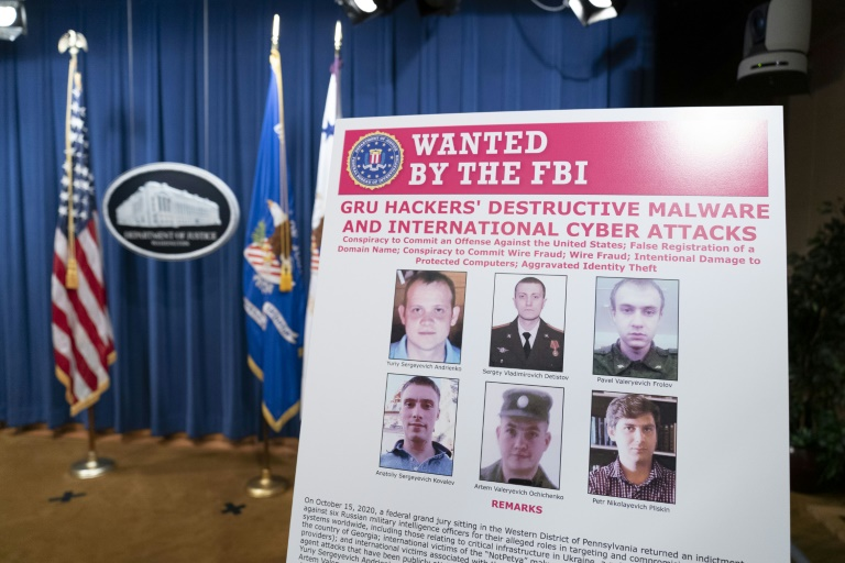 US charges six Russian military intelligence officers with cyberattacks