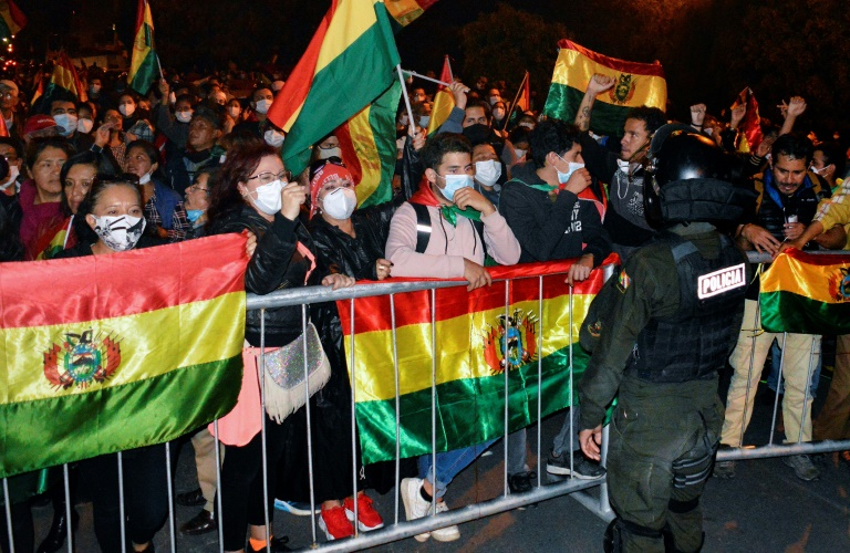Protests in Bolivia as Arce looks set for presidential poll win