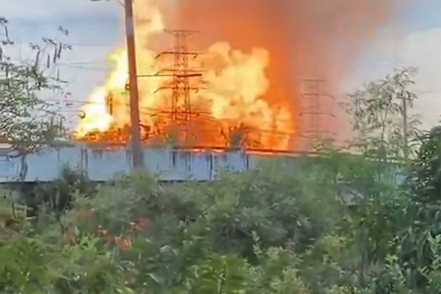Two killed, many injured by gas pipe explosion in Samut Prakan