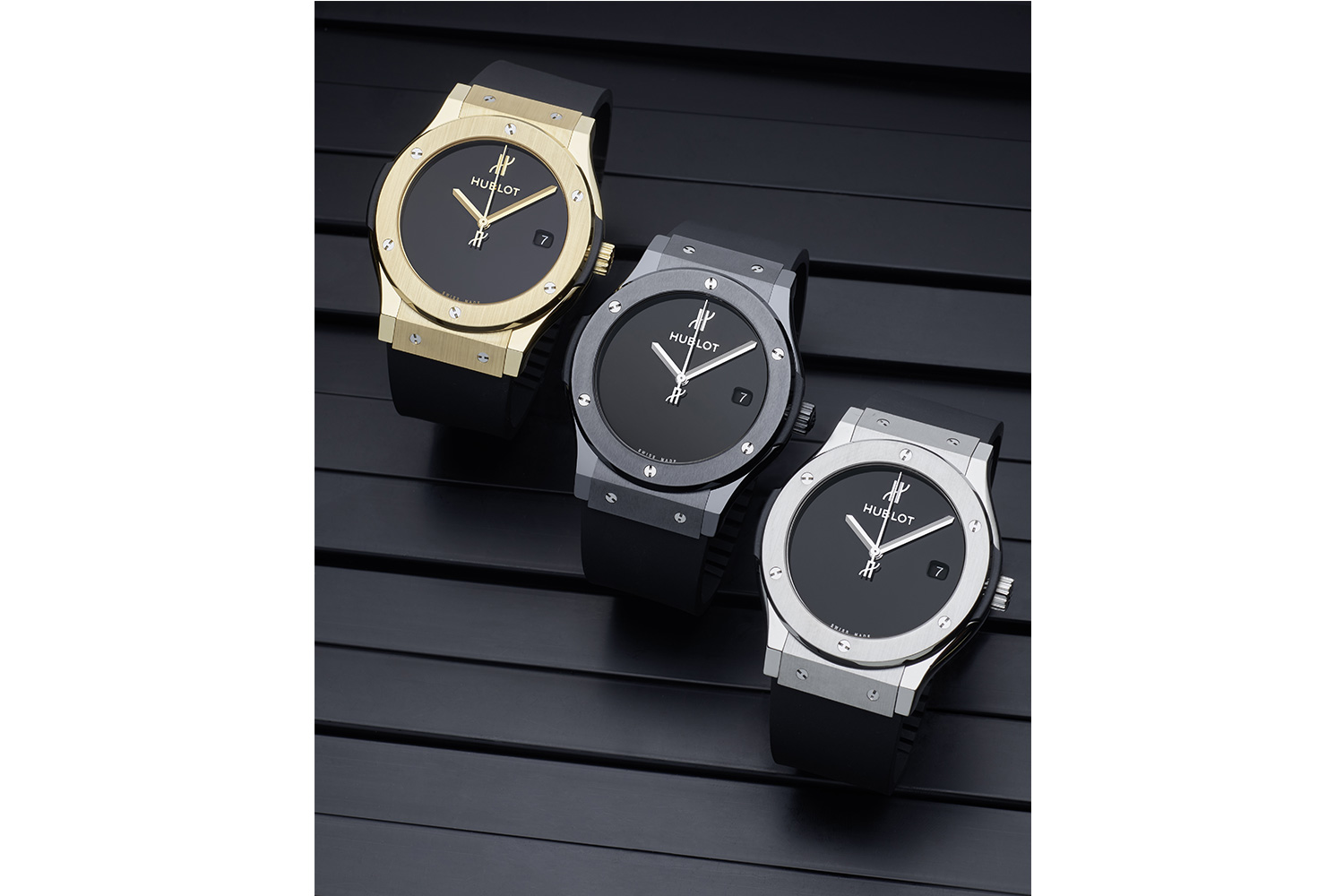 Classic Fusion 40 years anniversary in Yellow Gold, Black Ceramic and Titanium