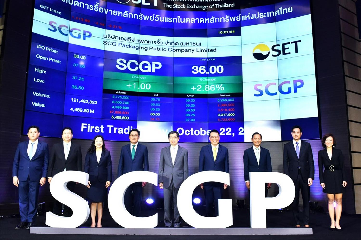 SCGP's debut on SET marks the largest listing this year