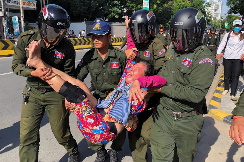 Cambodia breaks up protest over alleged China military base
