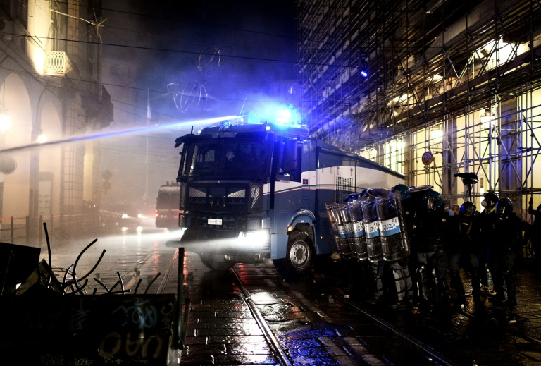 Turin and Milan were particularly hard hit by the violent protests against coronavirus restrictions