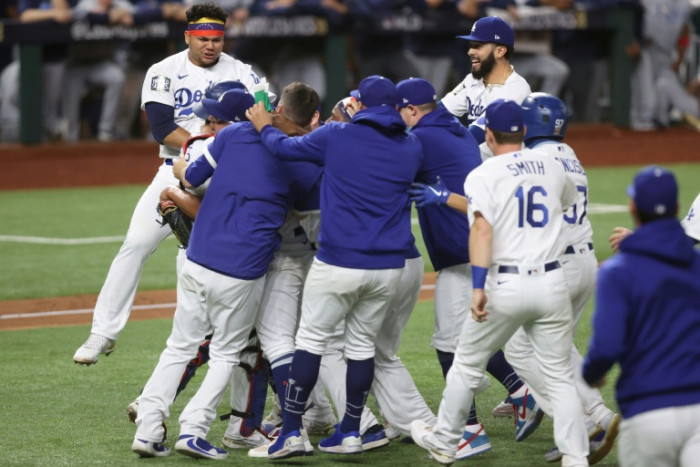 Dodgers beat Rays 3-1 to end 32-year World Series drought
