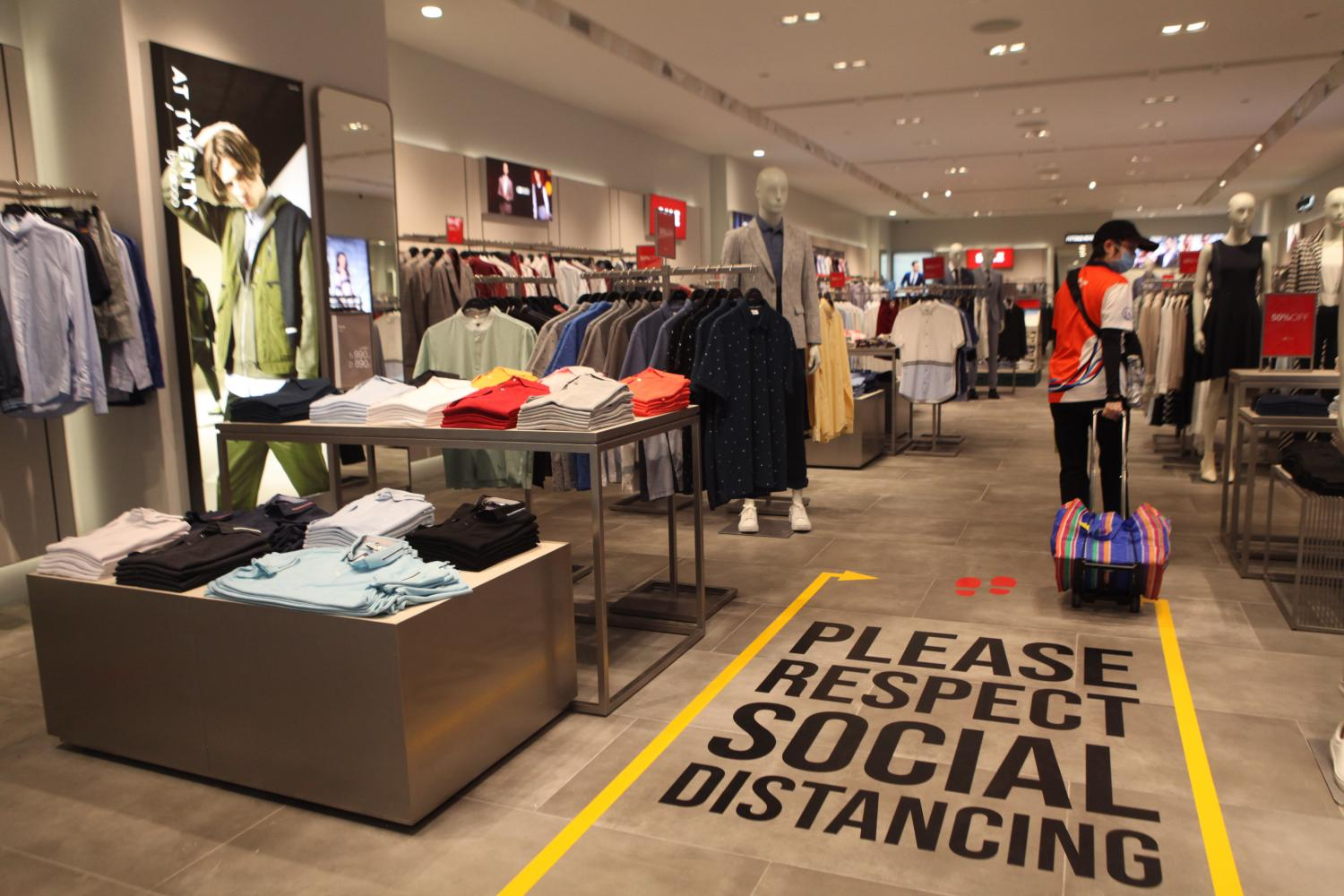 Social distancing leaves retailers less space to market their goods.