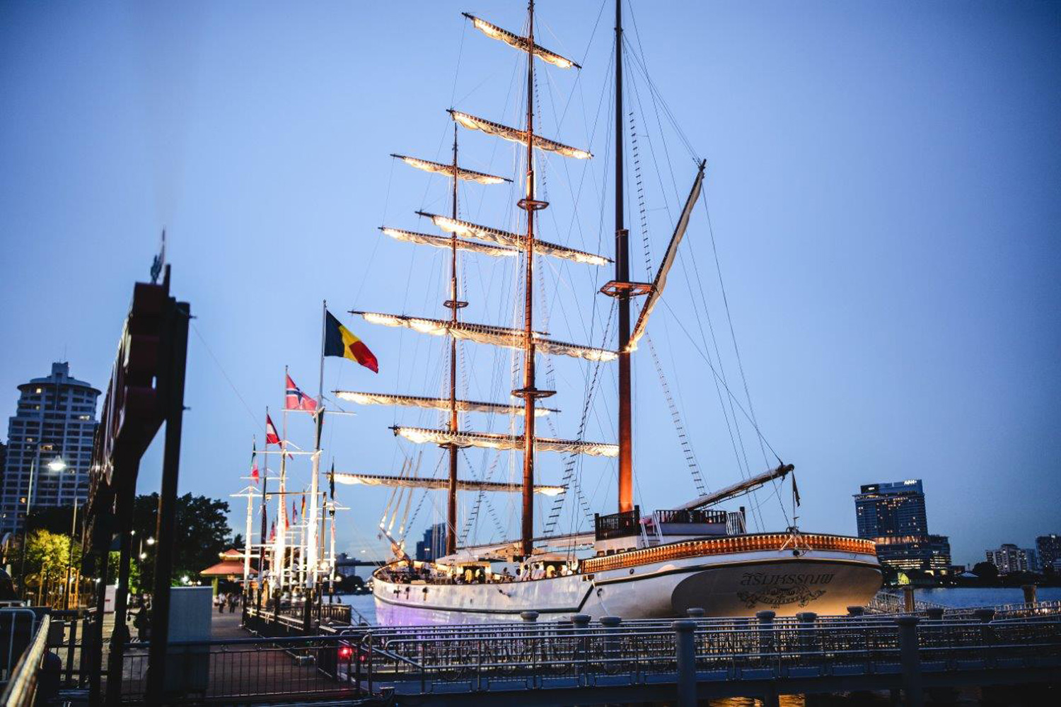 Bangkok Marriott Marquis Queen's Park launches Sirimahannop, the largest three-masted vessel in Thailand