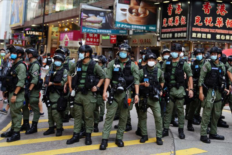 Hong Kong's ranking in global law and order index plunges