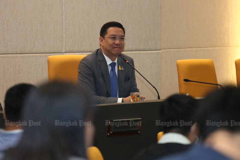 Digital Economy and Society Minister Buddhipongse Punnakanta is under attack by government critics after blocking accesses to Pornhub, a popular, foreign-based adult website. (Bangkok Post file photo)