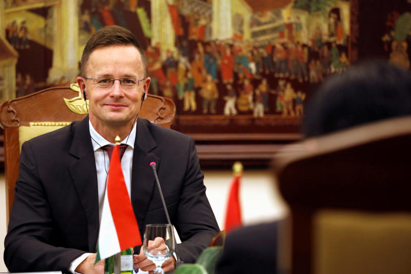 Hungarian Foreign and Trade Minister Peter Szijjarto during a visit to Vietnam on Oct 16 this year. (Photo: Reuters)