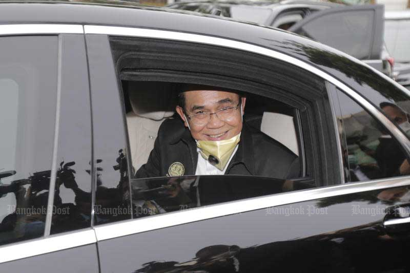 Prime Minister Prayut Chan-o-cha opens a fair on Khao San Road on Oct 30 to showcase the popular tourist location's new look. (Photo by Pornprom Satrabhaya)