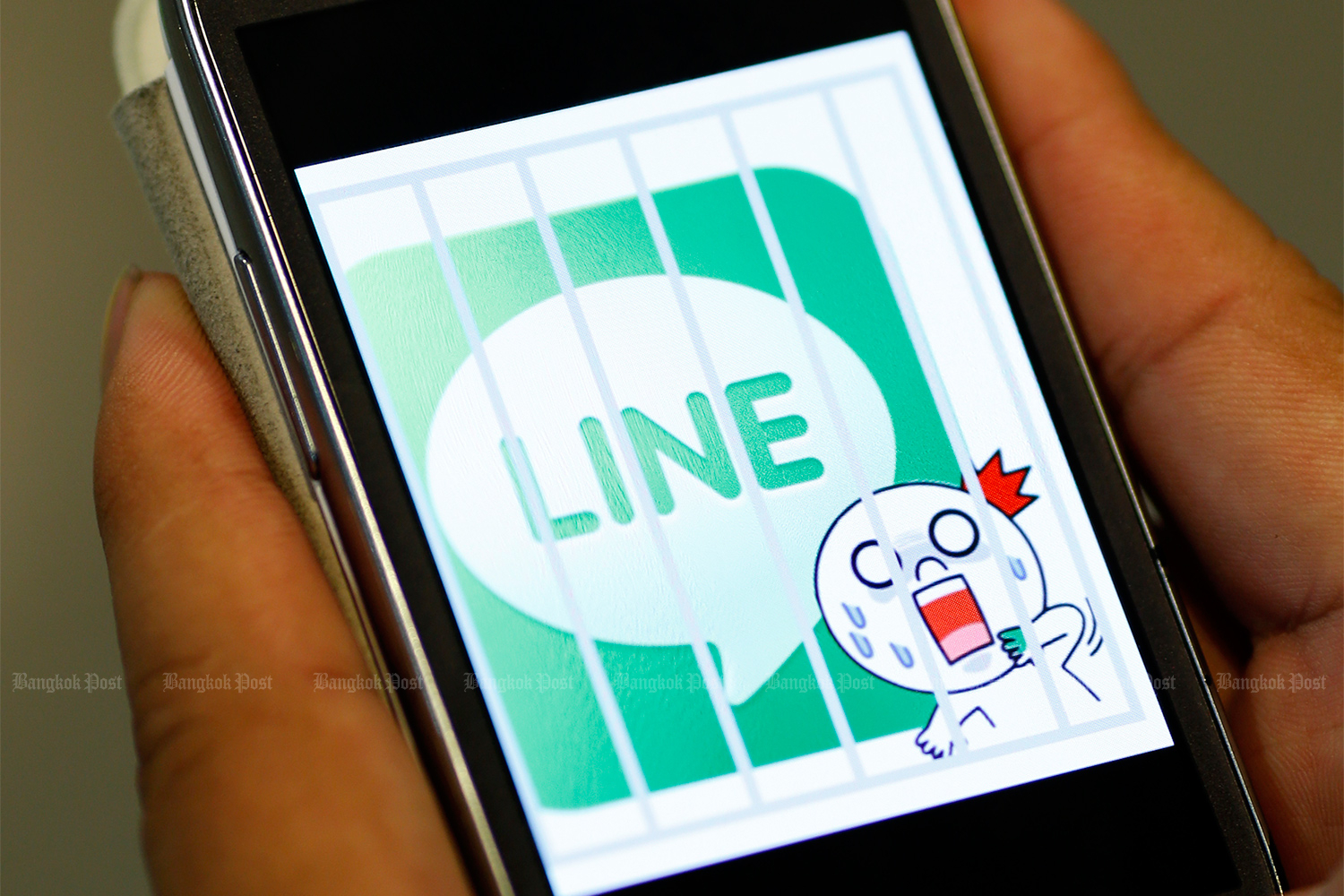 The Line messaging app was down for about 15 minutes on Monday. (Bangkok Post file photo)
