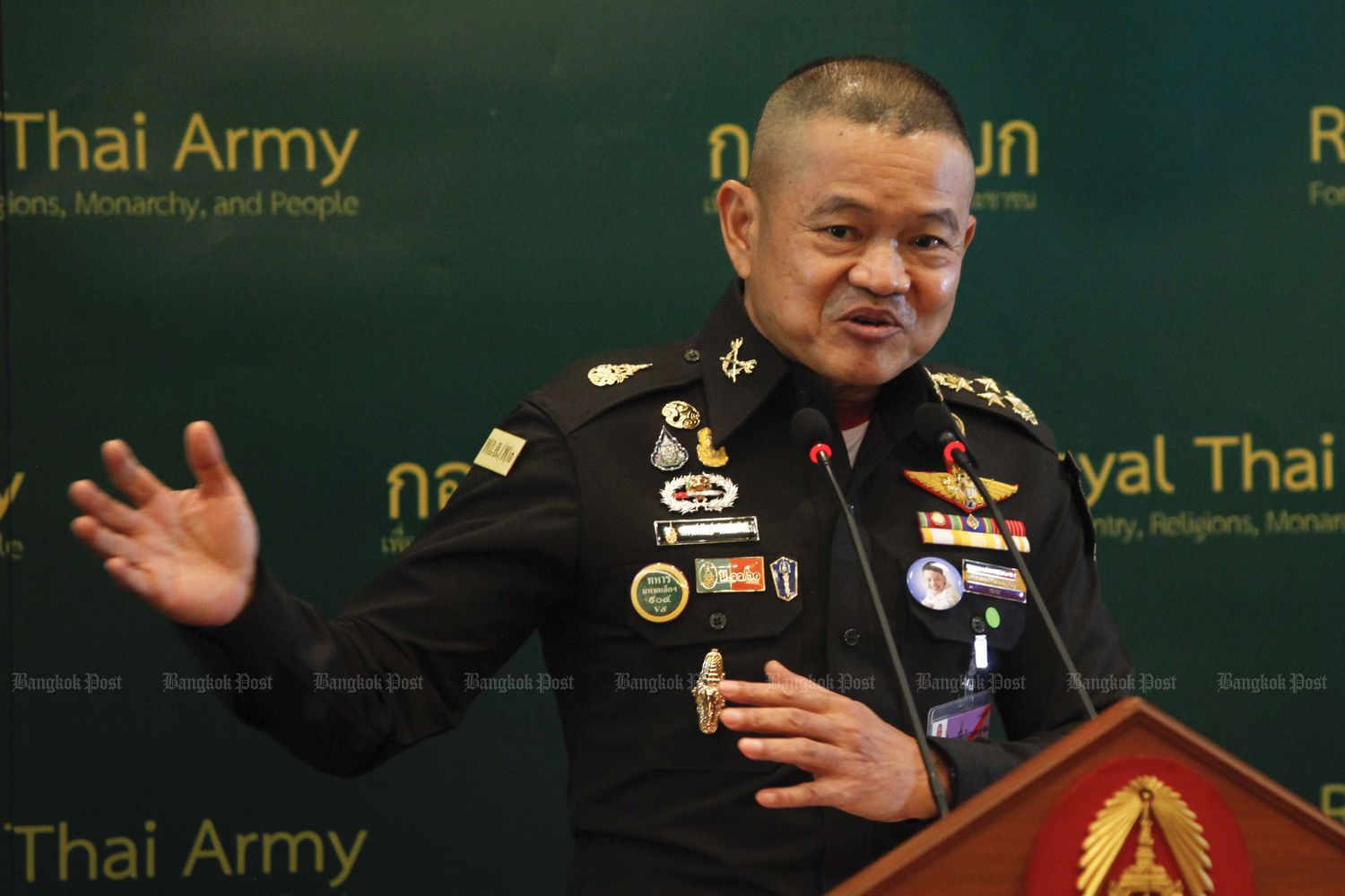 The army would not protect wrongdoers, says army chief Gen Narongphan Jitkaewtae. (Photo by Pattarapong Chatpattarasill)