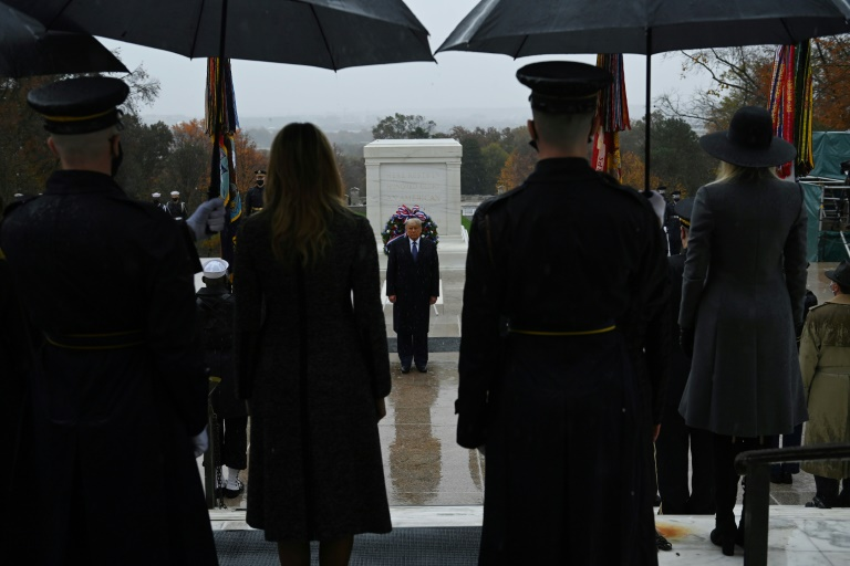 On day meant for unity, Trump and Biden honor veterans separately