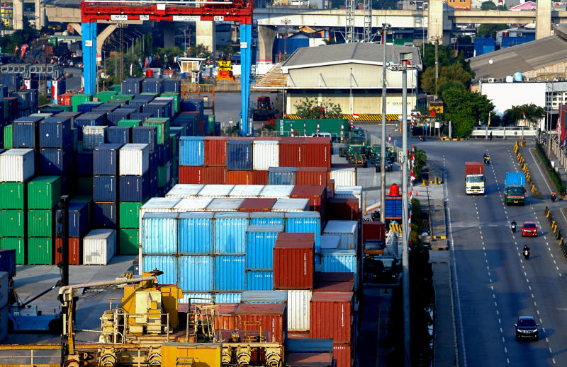 FILE PHOTO: Stacks of containers are seen at Tanjung Priok port amid the coronavirus disease (Covid-19) outbreak in Jakarta, Indonesia, Aug 3, 2020. (Reuters)